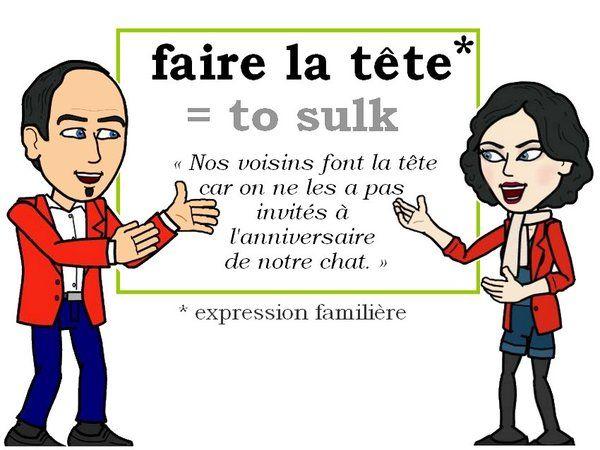 L'expression du jour : « faire la tête » [fɛʀ la tɛt]  #FLE #Francais #Expressionoftheday #learnfrench Tweets de Media par Les Machin (@Les_Machin) | Twitter