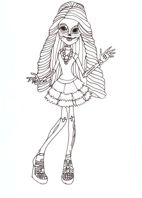 monster high coloring pages scaris - photo#25