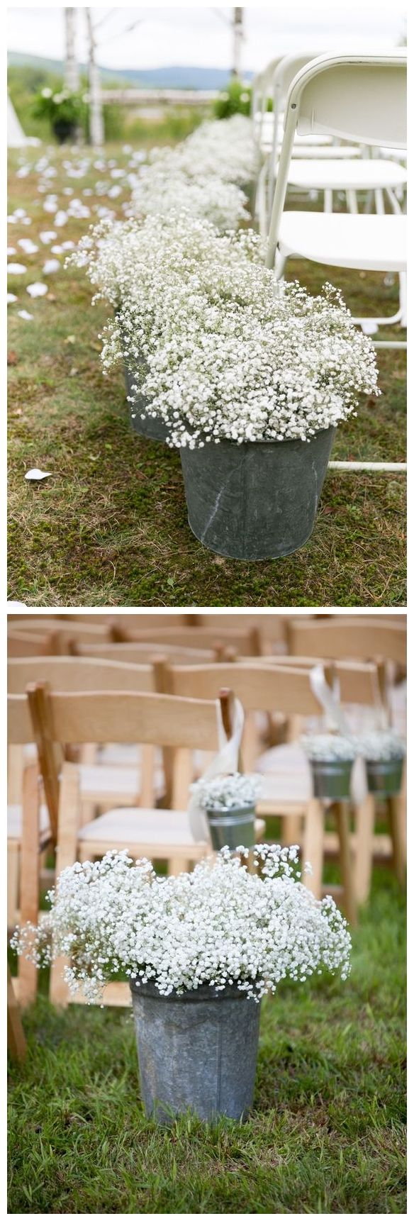 rustic country bucket wedding ideas #weddings #weddingideas   #dpf #deerpearlflowers #countrywedding #country #rusticwedding / http://www.deerpearlflowers.com/rustic-buckets-tubs-wedding-ideas/