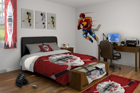 46 best images about kids 39 room on pinterest hockey for Kids hockey room