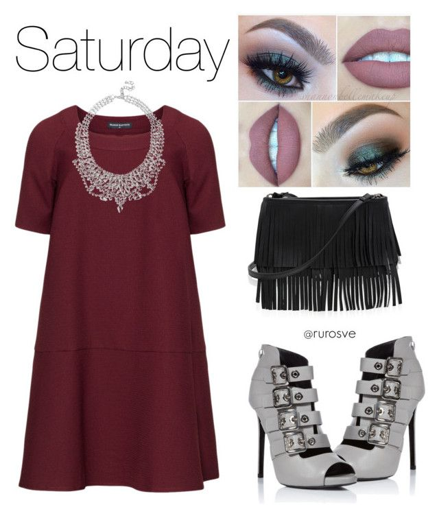 """sábado por la noche"" by ruros on Polyvore featuring Manon Baptiste, White House Black Market and GUESS"