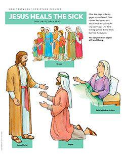 New Testament Scripture Figures, Jesus Heals the Sick