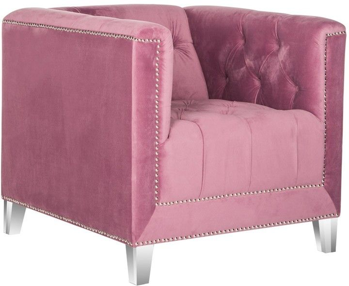 The Well Appointed House The Deitrich Pink Club Chair with Acrylic Legs