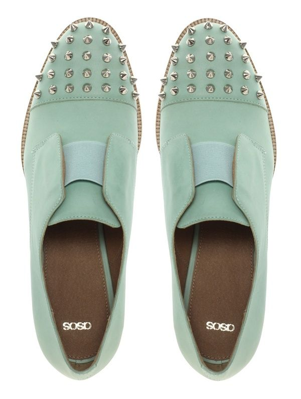 studs: Leather Flats, Fashion Shoes, Mint Green, Color, Flats Shoes, Mint Shoes, Men Shoes, Girls Fashion, Girls Shoes