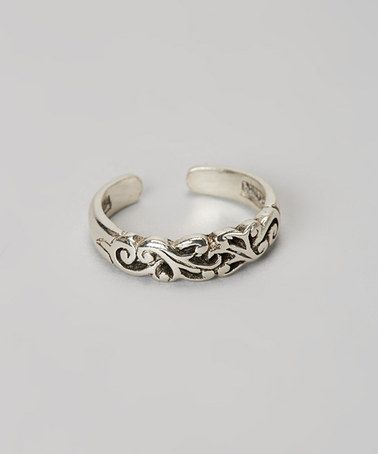 Another great find on #zulily! Sterling Silver Filigree Toe Ring #zulilyfinds