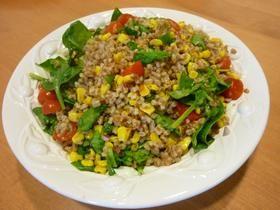 Wheat Berry Veggie Salad with Citrus Vinaigrette
