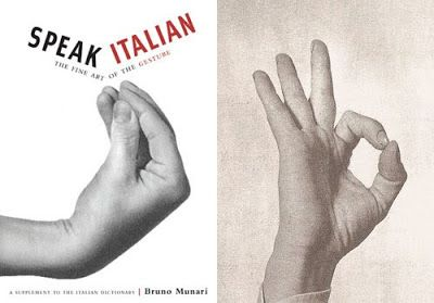 """This dictionary of cultural nuance, """"Speak Italian: The Fine Art of the Gesture,"""" by graphic designer Bruno Munari, was first published in 1958. It was re-released by Chronicle Books in 2005."""