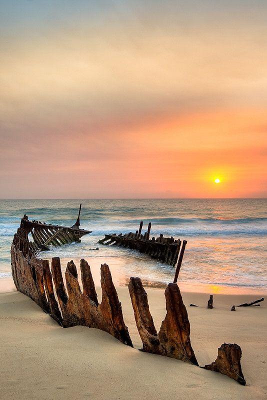 Shipwreck - Dickie Beach - Queensland - Australia by Frank Moroni