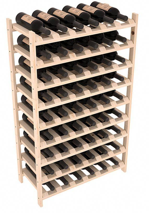 54 Bottle Stackable Wine Storage Rack Kit In Pine 13 Stains To