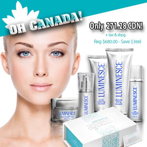 Special deal in Canada.  Save over $300. For new member order only. Just click the Join now choose your country Canada and fill the information and choose the skin care package.  Finished fill the form and submit.