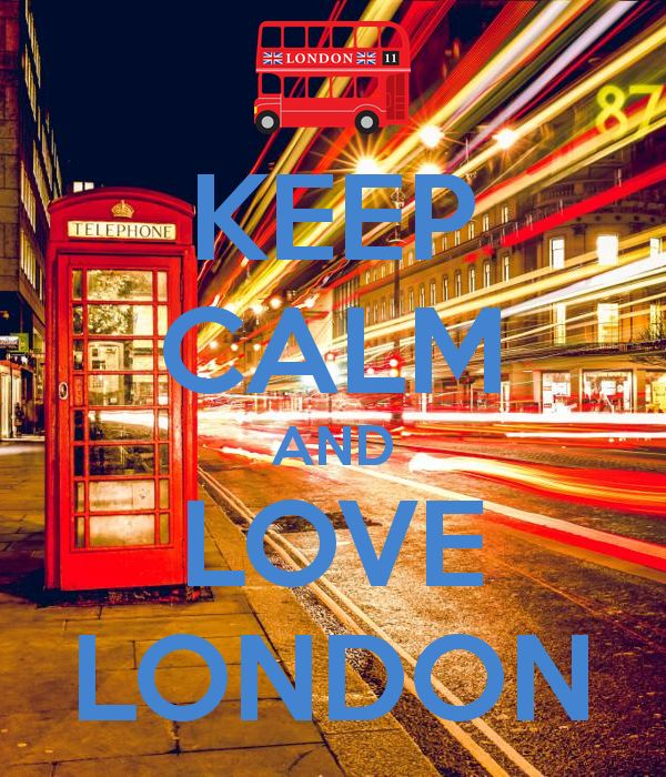 'KEEP CALM AND LOVE LONDON' Poster