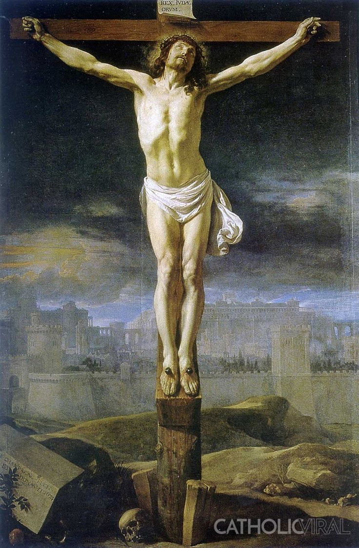 Christ Crucified - Philippe de Champaigne  - 54 Paintings of the Passion, Death and Resurrection of Jesus Christ