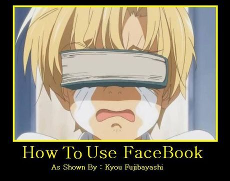 CLANNAD : How to use FaceBook  Hahahaha so fun !