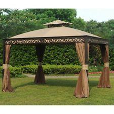 Cool Aluminum Garden Gazebo Party Pavilion Tent Outdoor Wedding Events x ft Set