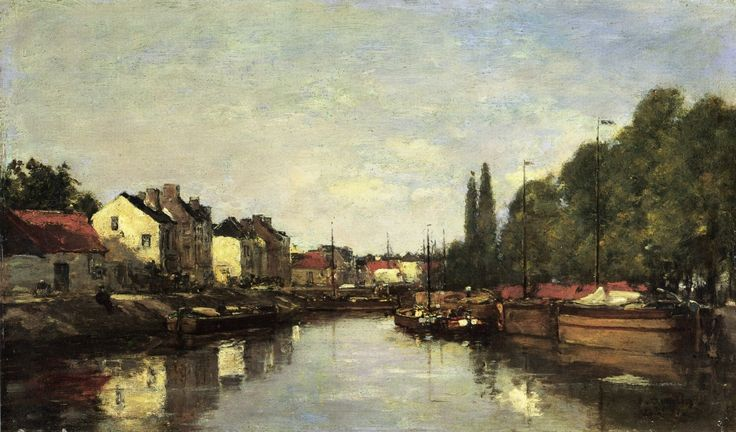 Brussels, the Louvain Canal - Eugene Boudin