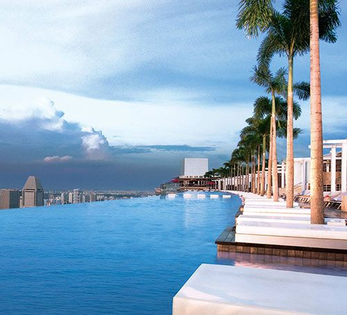 Marina Bay Sands in Singapore. The next time I go to Singapore, I definitely want to stay here...