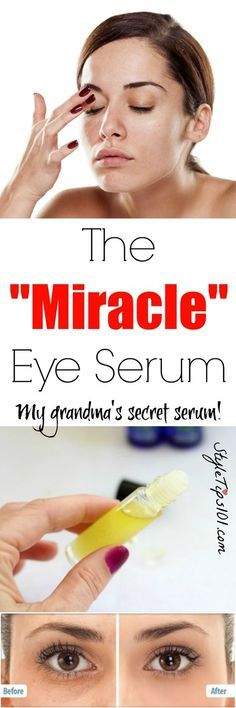 "Homemade Eye Serum  Read instructions  ""You'll Need: 1 vitamin E capsule 2 tbsp coconut oil 1/2 tsp camphor oil dropper bottle or small glass container"""