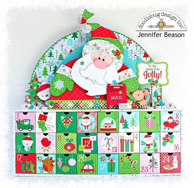 Here Comes Santa Claus: Advent Calendar by Jennifer | Doodlebug Design Inc Blog | Bloglovin'