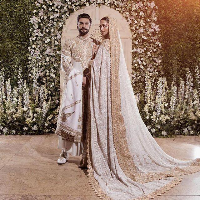 Deepika Padukone And Ranveer Singh Wedding Deepveer Wedding Matching Outfits Bride And Groom In Matching Outfits Bollywood Wedding Fashion Wedding Outfit