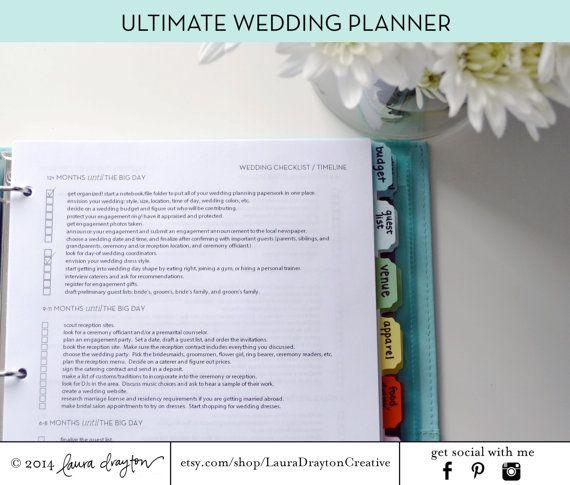 Más de 25 ideas fantásticas sobre Wedding Binder en Pinterest - wedding checklist pdf