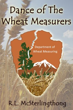 """My friends, here is the official cover of my forthcoming novel, """"Dance of the Wheat Measurers""""."""