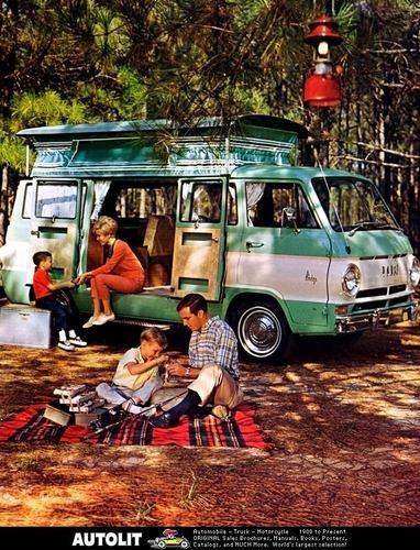 1968 Dodge A100 Van TEC Camp Wagon Camper Photo Poster | eBay
