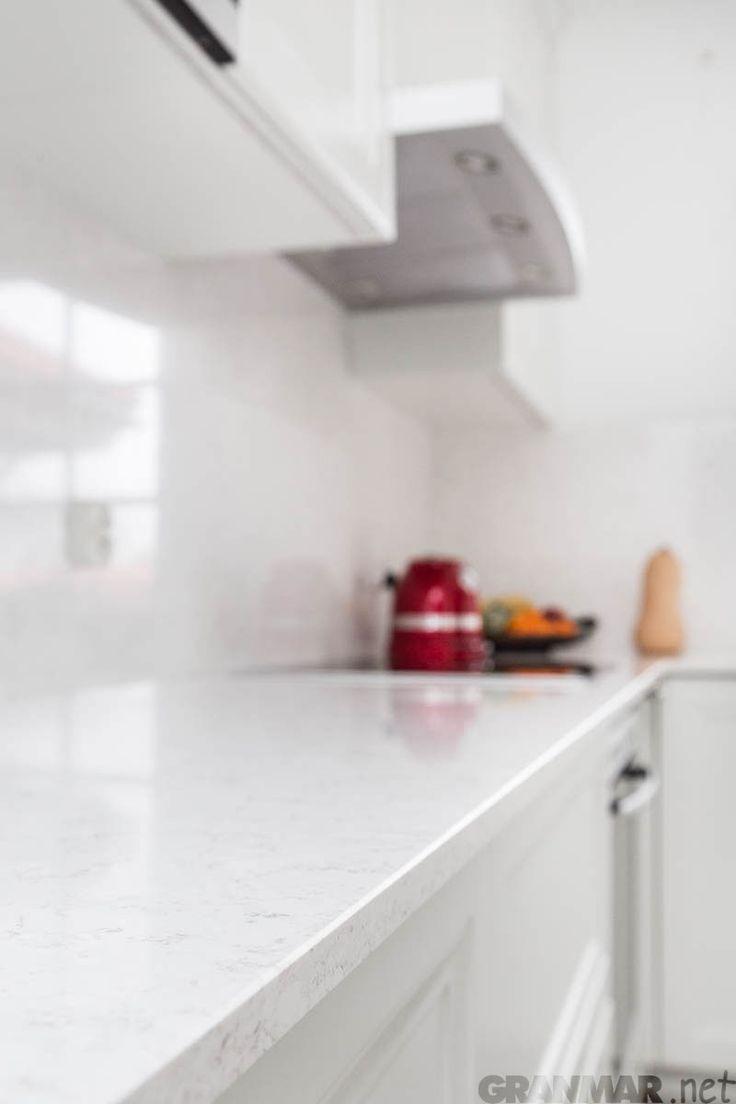 ...plus małe zbliżenie na strukturę kwarcu Victoria #kitchentop #interior #home #kuchnia #blat #wnętrze