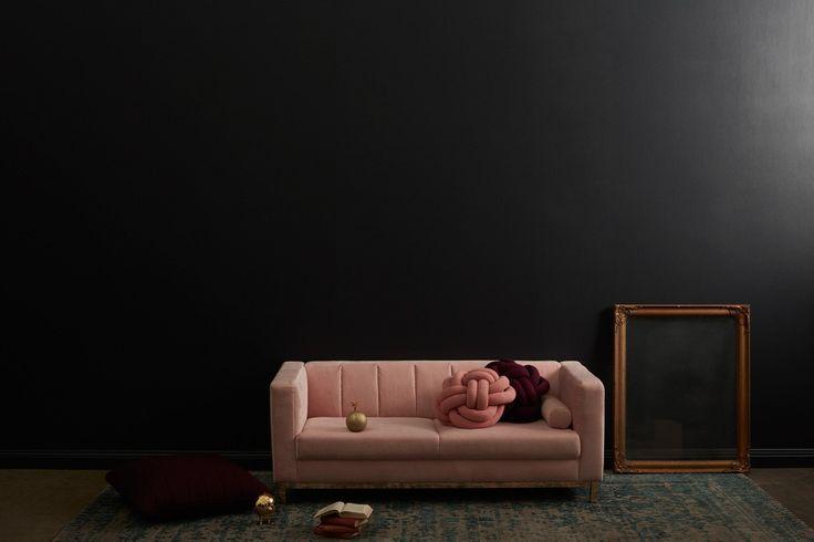 Incy Interiors Sybilla Settee - Velvet Blush