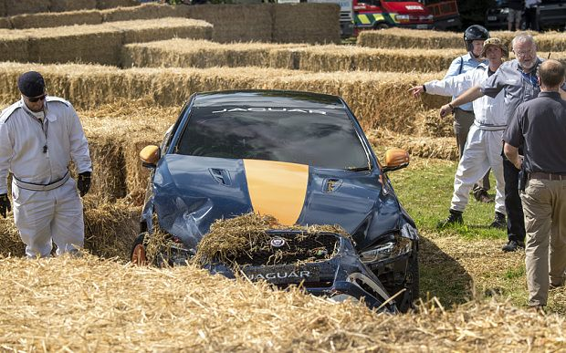World's fastest man crashes at Goodwood