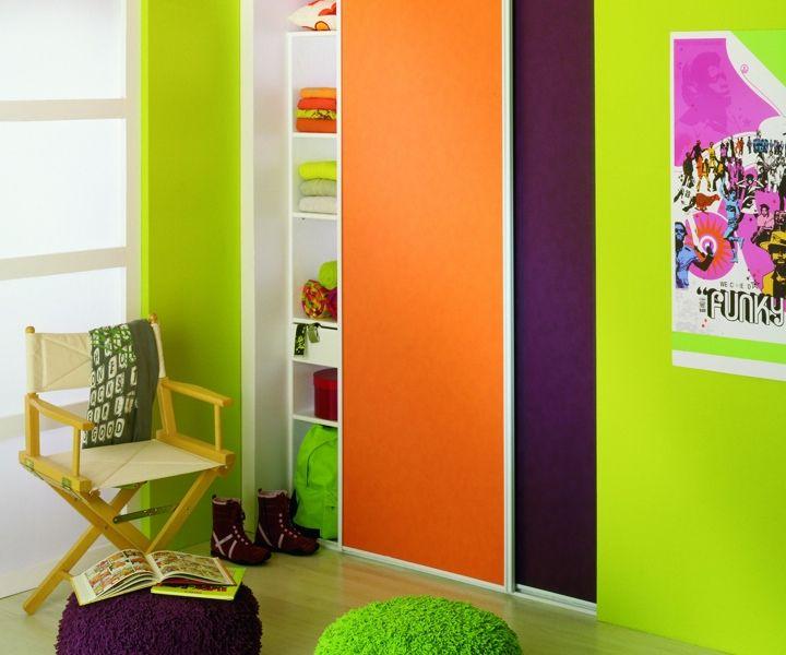 Mettez de la couleur dans vos #portes de placard #coulissantes