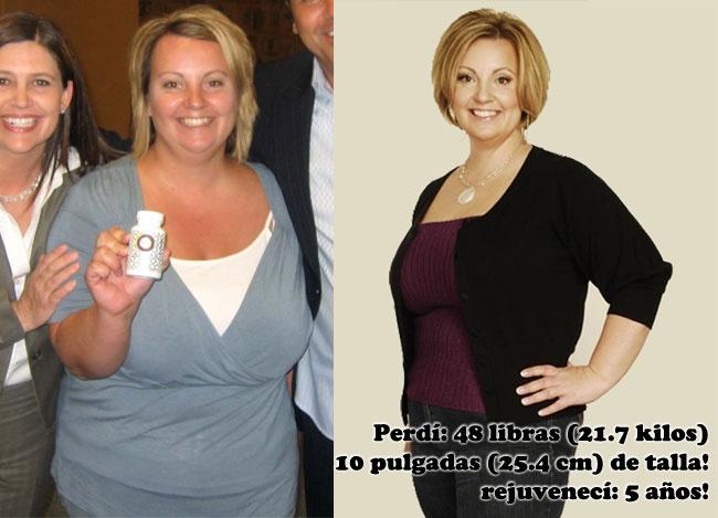 Perder 48 libras (21.7 kilos) y 10 pulgadas (25.4 centímetros) de talla! Es como haber rejuvenecido 5 años! http://bit.ly/eUVW9c