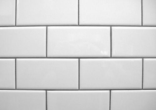 white tile + gray grout