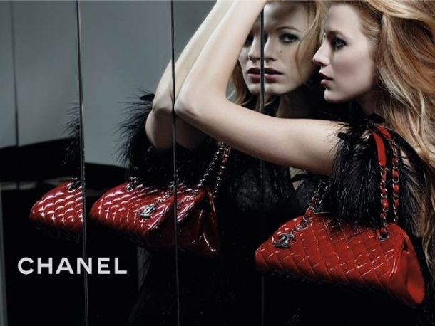 Blake Lively in love with red's and burgundies for the fall. Perfect Chanel bag for fall.