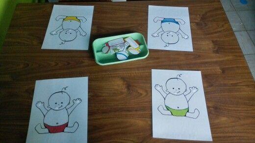 Kleuren associatie spel thema baby gemaakt door  *Juf_laura*