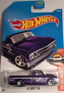 Hot Wheels 1967 Chevy C10 Pick up Truck Diecast metal toy scale 1/64 Mattel 3+.  | eBay
