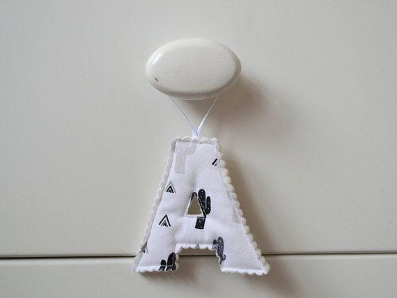 Cactus print hanging letter / initial / door hanger / cacti /