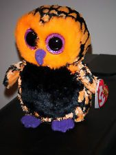 """Ty HAUNT the 6"""" Halloween Owl Beanie Baby Boos Boo's ~ 2013 NEW Release~ IN HAND"""