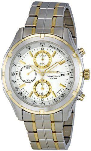 Seiko Men's SNDC38 Chronograph Watch Seiko. $139.99. Water-resistant to 100 M (330 feet). Hardlex crystal. Chronograph. Two-tone. Date. Save 51% Off!
