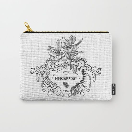 "Fifikoussout ""Leo & Tiger"" Coin Purse #purse #print #society6"
