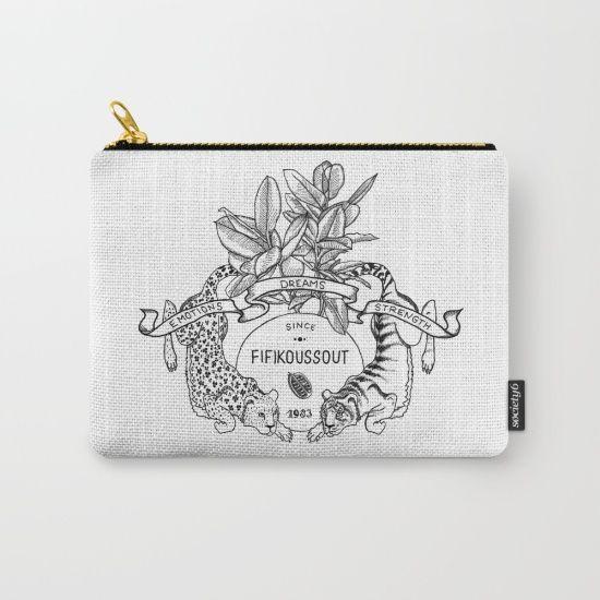 "Fifikoussout ""Leo & Tiger"" Coin Purse #purse #print #society6"