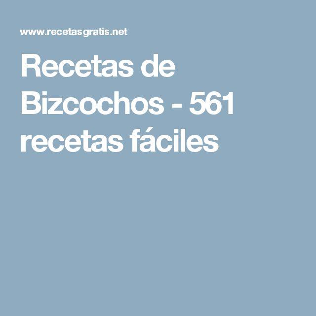 Recetas de Bizcochos - 561 recetas fáciles