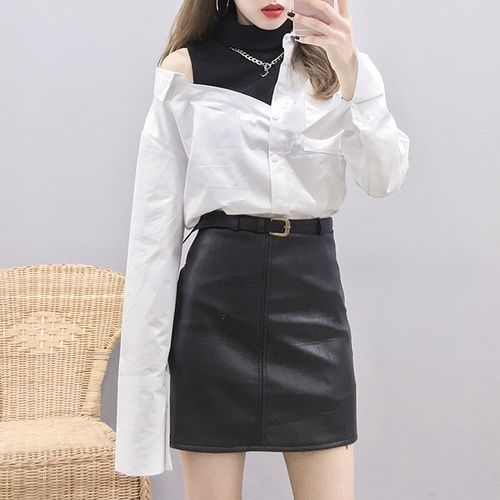 Korean fashion. Style skirt outfits like you would be comfortable wearing it ski...