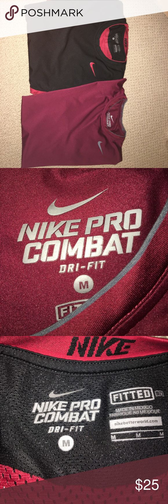 Combo 2 Nike Pro Combat shirts Originally both $50 each and selling as a combo. Both size M and both in good condition but worn a few times. Can se separate if needed Nike Shirts Tees - Short Sleeve