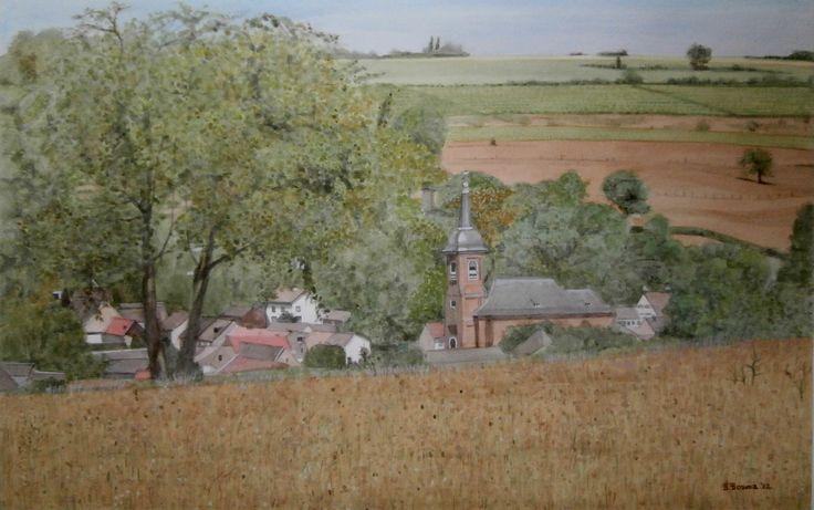 Eys, Zuid-Limburg (schilderij/painting van/by Bob Bosma, Heiloo)