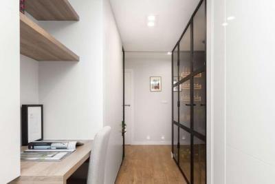 1mm. studio miejsce do pracy wydzielone w pokoju dziennym home office area in living room