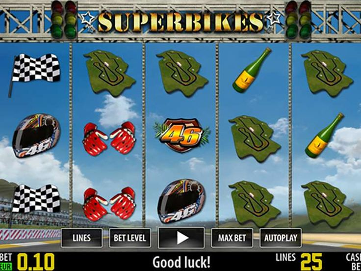 The free online Superbikes HD slot machine was developed by World Match slot company, which is one of the leading slot creators nowadays. This is one of many thematic machines they have made recently, and it was inspired by motorcycle races. This a 5-reel and a 25-payline machine have satisfying graphics, but it is much more done on the sound effects. http://free-slots-no-download.com/worldmatch/5563-superbikes/