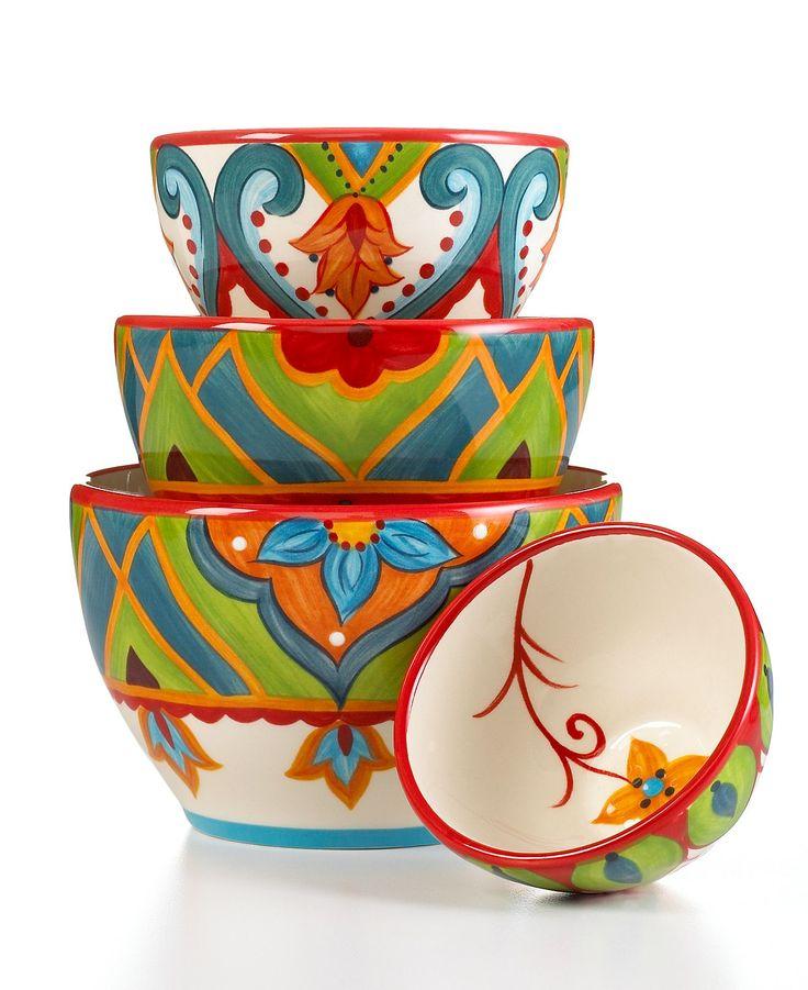 Espana Dinnerware, Pasha 4 Piece Graduated Bowl Set - Serveware
