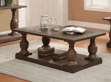 Inglewood Salvaged Brown Wood Coffee Table