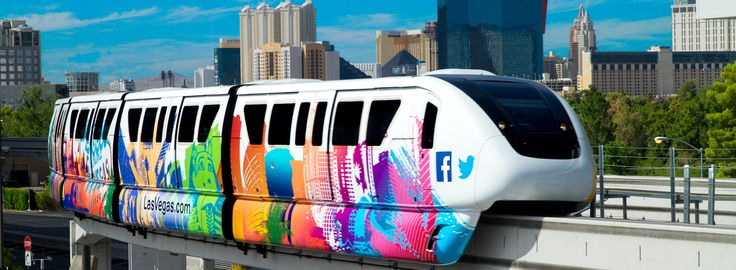 The monorail in Las Vegas. It's a cheap way to get around, avoiding parking, traffic and taxi fares.
