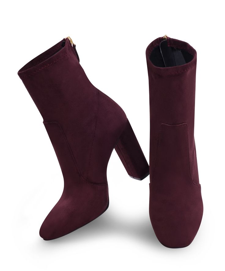 Sante Heeled Ankle Bootie for special casual drinks... Bordeaux